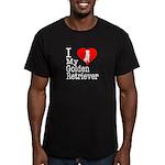 I Love My Golden Retriever Men's Fitted T-Shirt (d