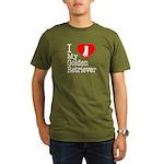 I Love My Golden Retriever Organic Men's T-Shirt (