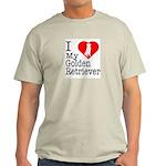 I Love My Golden Retriever Light T-Shirt