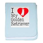 I Love My Golden Retriever Infant Blanket
