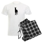 Great Dane Silhouette Men's Light Pajamas