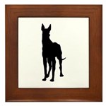 Great Dane Silhouette Framed Tile