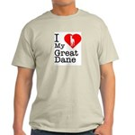 I Love My Great Dane Light T-Shirt