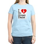 I Love My Great Dane Women's Light T-Shirt