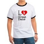 I Love My Great Dane Ringer T