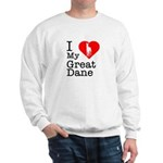 I Love My Great Dane Sweatshirt