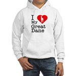 I Love My Great Dane Hooded Sweatshirt