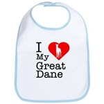 I Love My Great Dane Bib