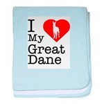 I Love My Great Dane Infant Blanket