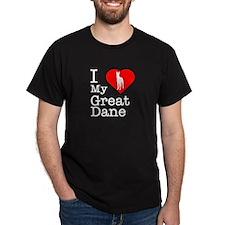 I Love My Great Dane T-Shirt
