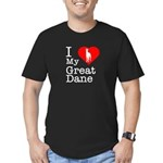 I Love My Great Dane Men's Fitted T-Shirt (dark)