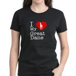 I Love My Great Dane Women's Dark T-Shirt