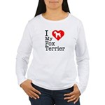 I Love My Fox Terrier Women's Long Sleeve T-Shirt