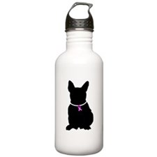 French Bulldog Breast Cancer Water Bottle