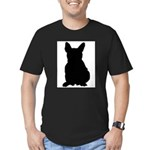 French Bulldog Silhouette Men's Fitted T-Shirt (da