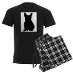 French Bulldog Silhouette Men's Dark Pajamas