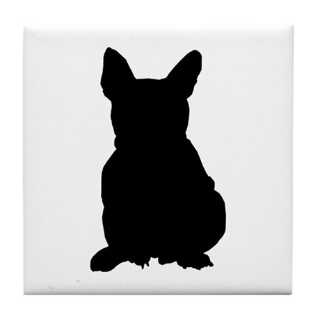French Bulldog Silhouette Tile Coaster