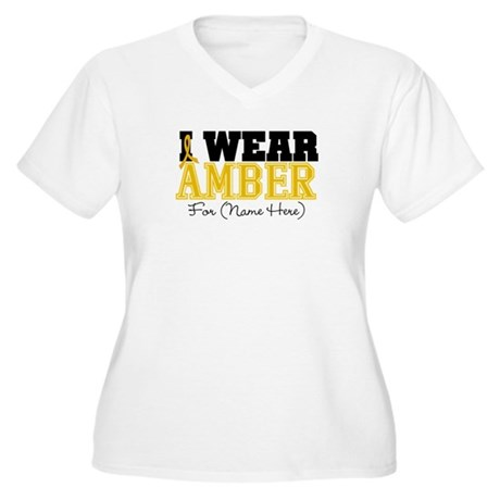 Custom Appendix Cancer Women's Plus Size V-Neck T-