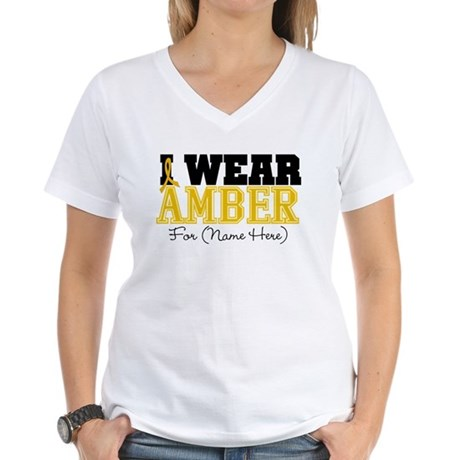 Custom Appendix Cancer Women's V-Neck T-Shirt