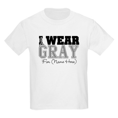 Custom Brain Cancer Kids Light T-Shirt