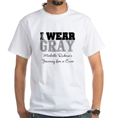 Custom Brain Cancer White T-Shirt