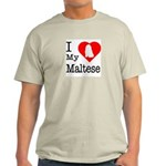I Love My Maltese Light T-Shirt
