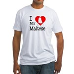 I Love My Maltese Fitted T-Shirt