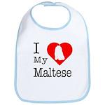 I Love My Maltese Bib