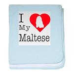 I Love My Maltese Infant Blanket