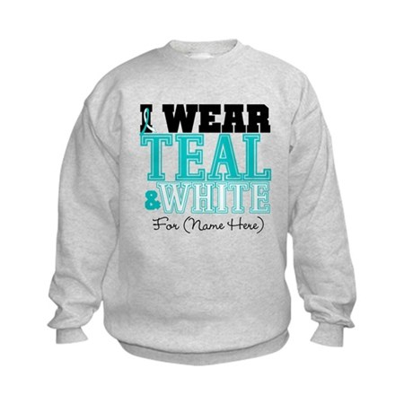 Custom Cervical Cancer Kids Sweatshirt
