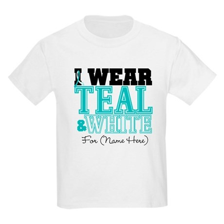 Custom Cervical Cancer Kids Light T-Shirt
