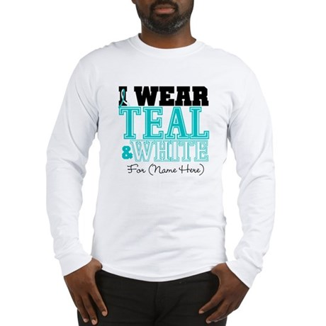 Custom Cervical Cancer Long Sleeve T-Shirt