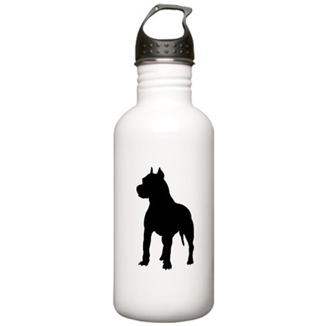 Pitbull Silhouette Stainless Water Bottle 1.0L