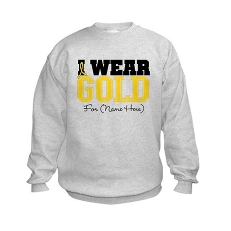 Custom Childhood Cancer Kids Sweatshirt