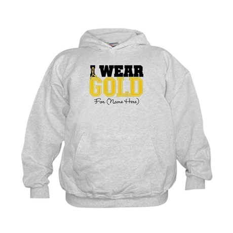 Custom Childhood Cancer Kids Hoodie