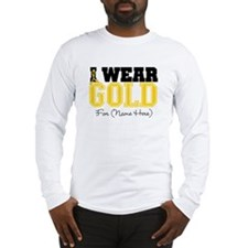 Custom Childhood Cancer Long Sleeve T-Shirt