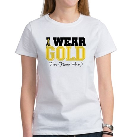 Custom Childhood Cancer Women's T-Shirt