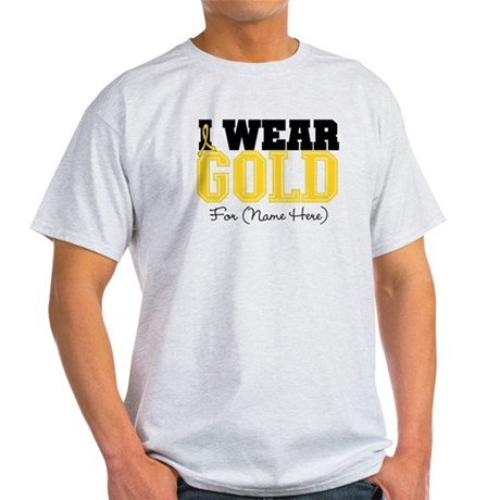 Custom Childhood Cancer Light T-Shirt