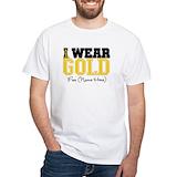 Childhood cancer Mens White T-shirts