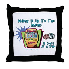 Indians and Casinos Throw Pillow