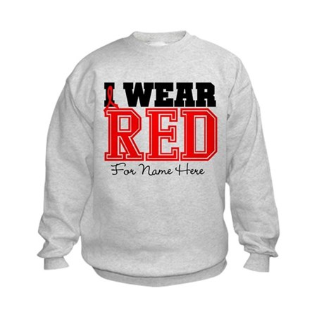 Custom Heart Disease Kids Sweatshirt