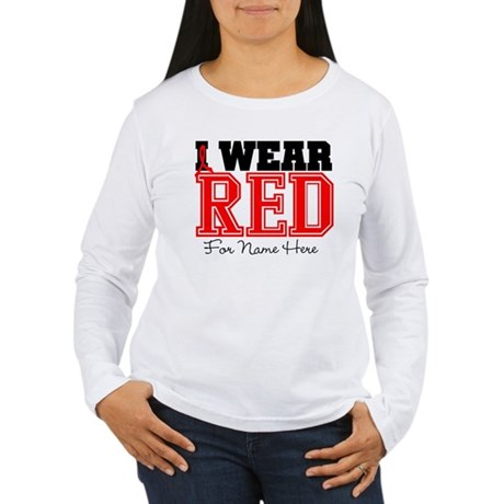 Custom Heart Disease Women's Long Sleeve T-Shirt