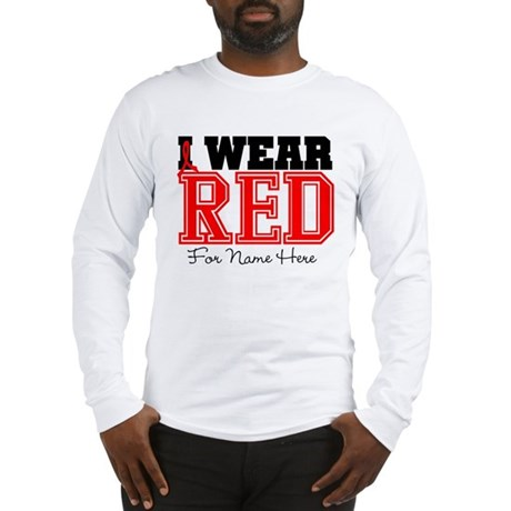 Custom Heart Disease Long Sleeve T-Shirt