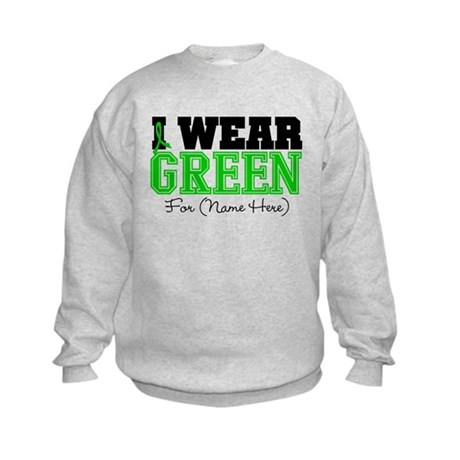 Custom Bile Duct Cancer Kids Sweatshirt