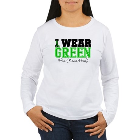 Custom Bile Duct Cancer Women's Long Sleeve T-Shir