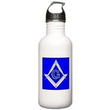 Fancy Square and Compass Water Bottle