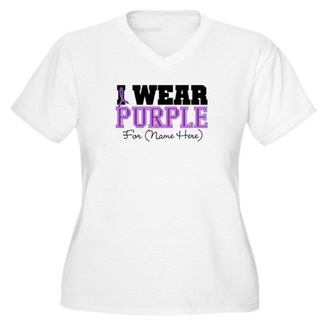 Custom Lupus Women's Plus Size V-Neck T-Shirt