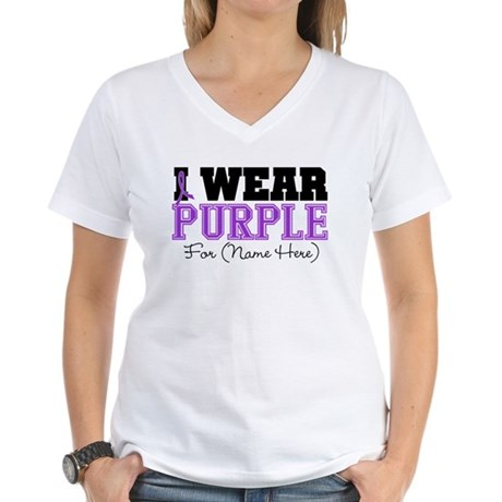 Custom Lupus Women's V-Neck T-Shirt