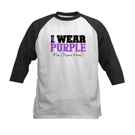 Custom Pancreatic Cancer Kids Baseball Jersey
