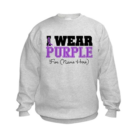 Custom Pancreatic Cancer Kids Sweatshirt